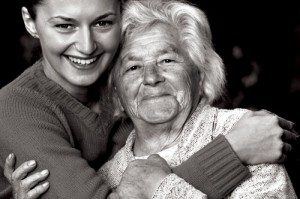 Senior lady and her granddaughter