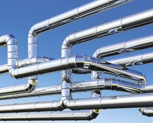 Pipeline against blue sky