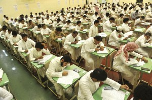 Saudi students sit for their final high