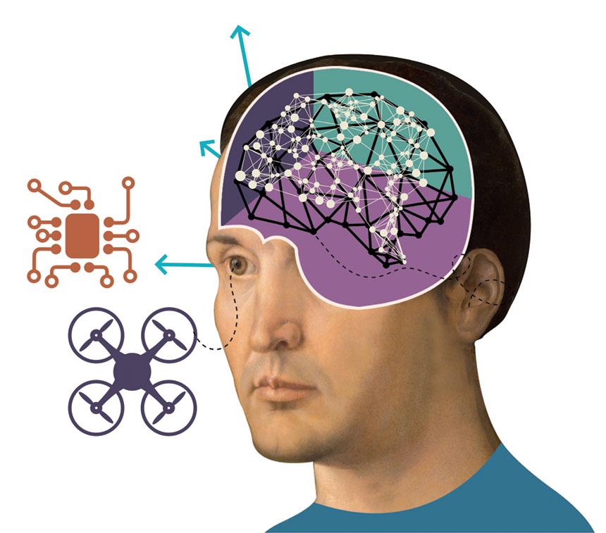 الجمع بين الدماغ والآلة