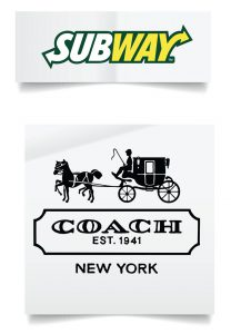 logos subway and coach